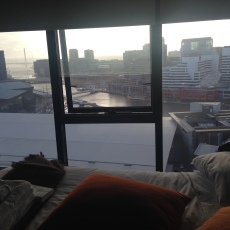 My bedroom looked out onto the beautiful Yarra River
