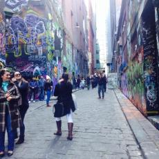 Graffiti lane was packed with people