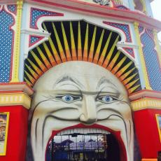 Melbourne's creepier version of the Luna Park mouth