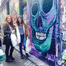 Graffiti lane was so colourful